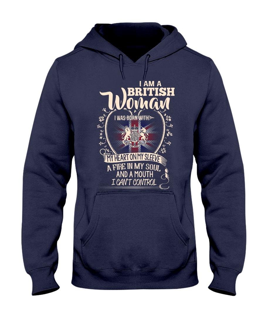 British Woman - I Can't Control Hooded Sweatshirt