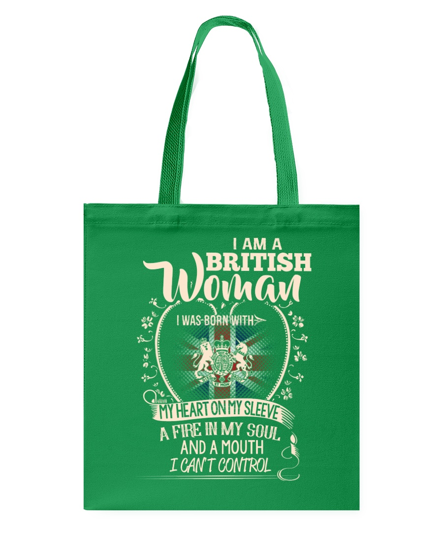 British Woman - I Can't Control Tote Bag