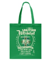 British Woman - I Can't Control Tote Bag thumbnail