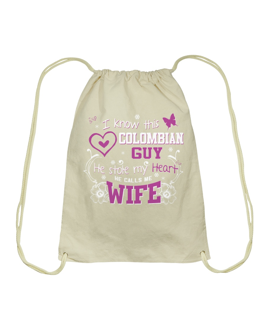 Colombian Wife Drawstring Bag