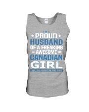 Canadian Husband  Unisex Tank front
