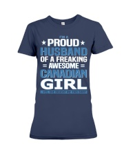Canadian Husband  Premium Fit Ladies Tee thumbnail
