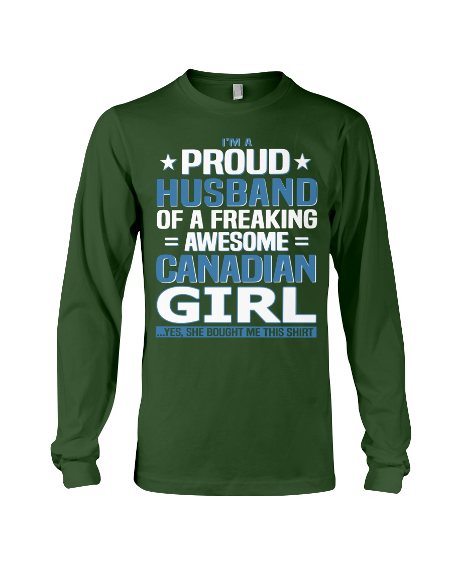 Canadian Husband  Long Sleeve Tee