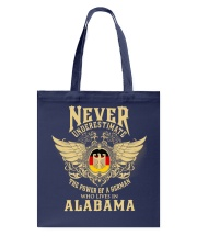 German in Alabama Tote Bag tile