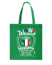 I'm a French Woman - I Can't Control Tote Bag thumbnail