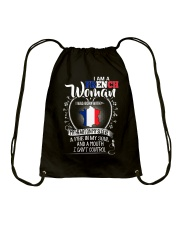 I'm a French Woman - I Can't Control Drawstring Bag thumbnail