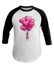 Breast Cancer Ballon Baseball Tee thumbnail