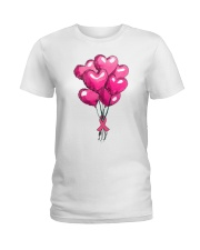 Breast Cancer Ballon Ladies T-Shirt thumbnail