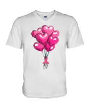 Breast Cancer Ballon V-Neck T-Shirt thumbnail