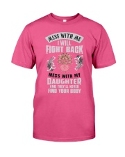 Top Gun Shirts Mess with me Premium Fit Mens Tee front