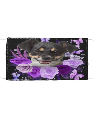 Jack Russell Terrier-Face Mask-Purple