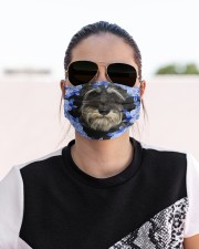 Miniature Schnauzer-Blue Mask Cloth face mask aos-face-mask-lifestyle-02