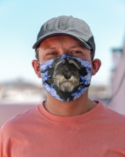 Miniature Schnauzer-Blue Mask Cloth face mask aos-face-mask-lifestyle-06