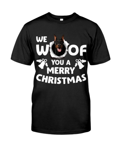 Doberman-Merry Xmas