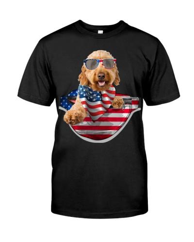 Goldendoodle-Waist Pack Flag
