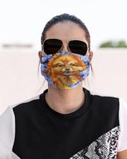 Pomeranian-Art-Blue Mask Cloth face mask aos-face-mask-lifestyle-02