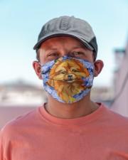 Pomeranian-Art-Blue Mask Cloth face mask aos-face-mask-lifestyle-06