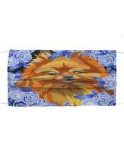 Pomeranian-Art-Blue Mask Cloth face mask front