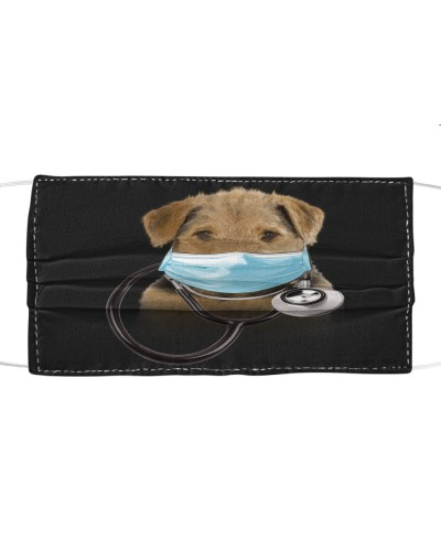 Airedale Terrier-Face Mask-Doctor