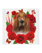 Basset Hound-Face Mask-Rose Cloth face mask aos-face-mask-coverlet-lifestyle-front-02