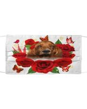 Basset Hound-Face Mask-Rose Cloth face mask front