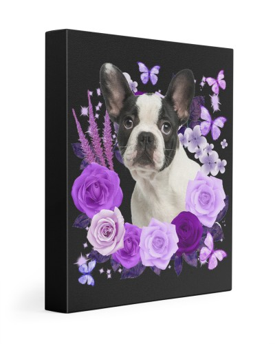 French Bulldog-03-Canvas Purple