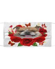 English Bulldog-Face Mask-Rose Cloth face mask front