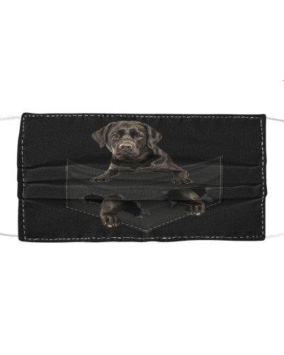Labrador-Black-Face Mask-Pocket