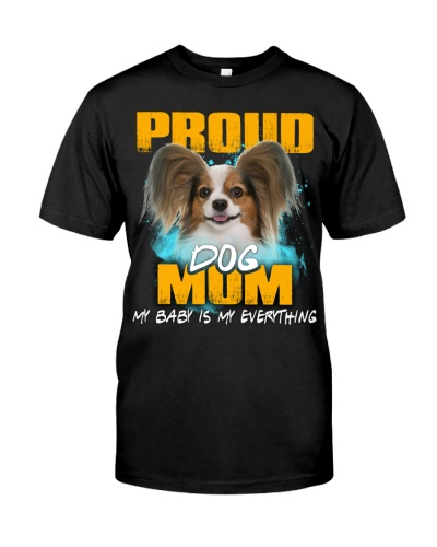 Papillon-Proud Dog Mom