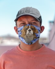 Cavalier King Charles Spaniel-02-Blue Mask Cloth face mask aos-face-mask-lifestyle-06