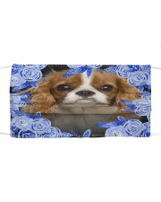 Cavalier King Charles Spaniel-02-Blue Mask Cloth face mask front