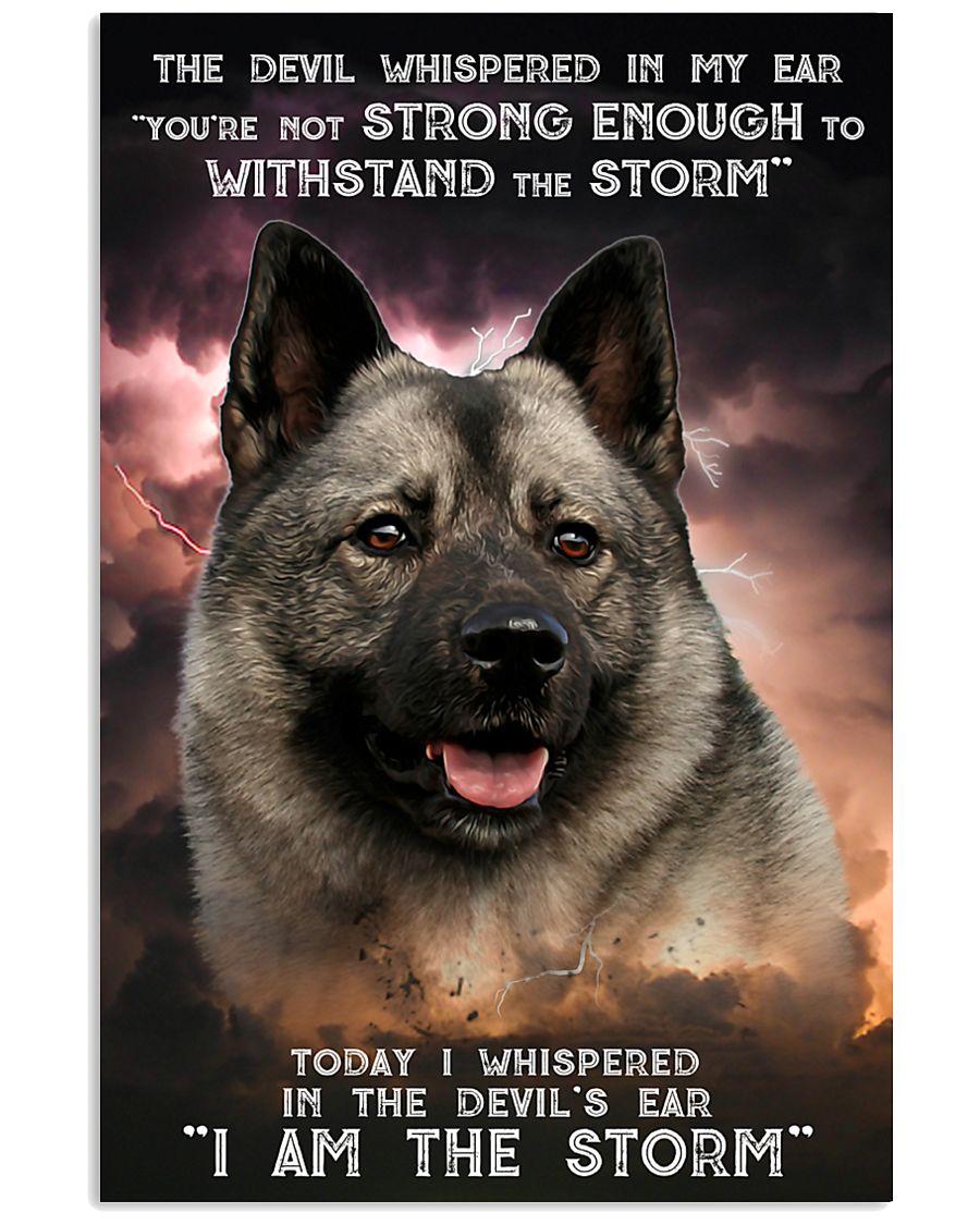 Norwegian Elkhound - Storm 24x36 Poster
