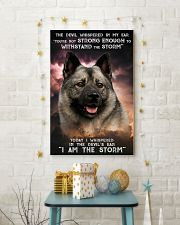 Norwegian Elkhound - Storm 24x36 Poster lifestyle-holiday-poster-3