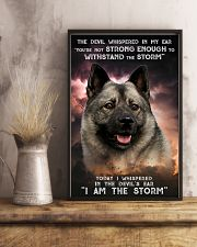 Norwegian Elkhound - Storm 24x36 Poster lifestyle-poster-3