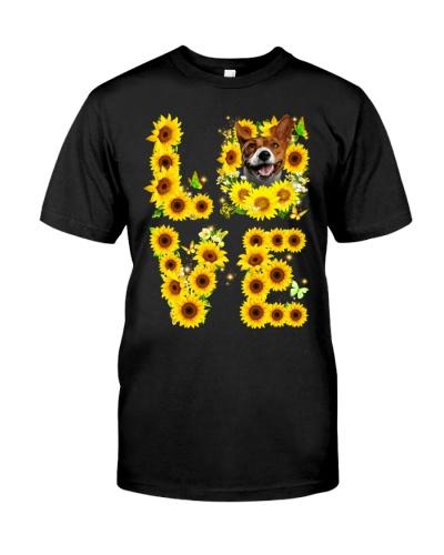 Basenji-Love Sunflower