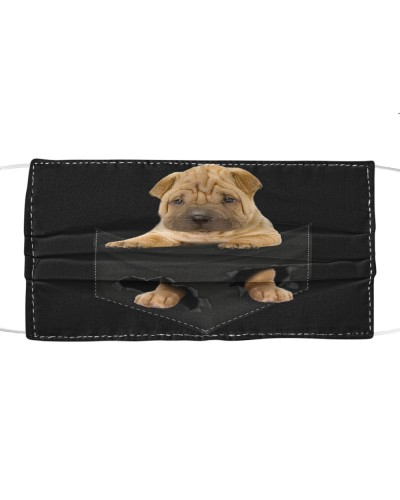 Shar Pei-Face Mask-Pocket