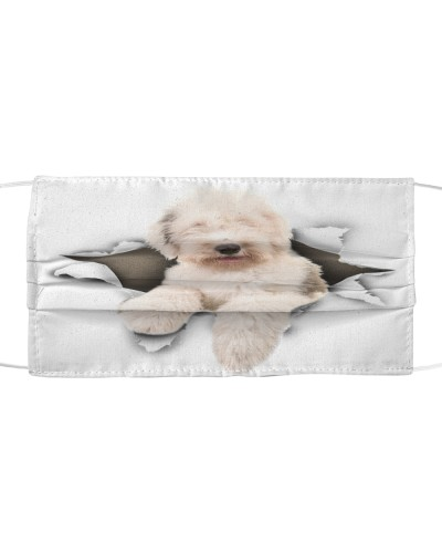 Old English Sheepdog-Face Mask-Torn02