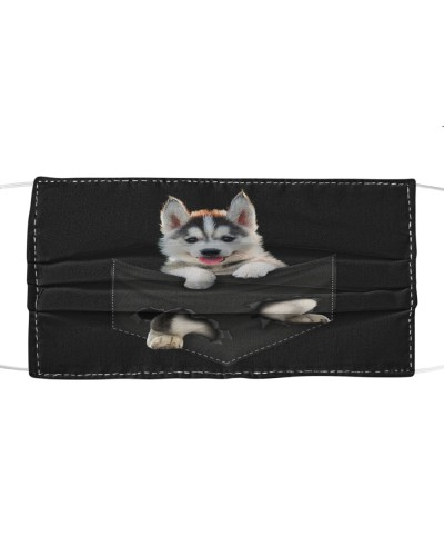 Husky-Face Mask-Pocket