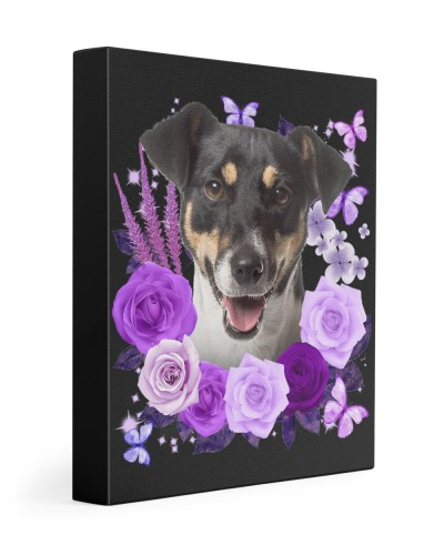 Jack Russell Terrier-Canvas Purple