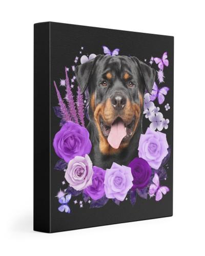 Rottweiler-02-Canvas Purple