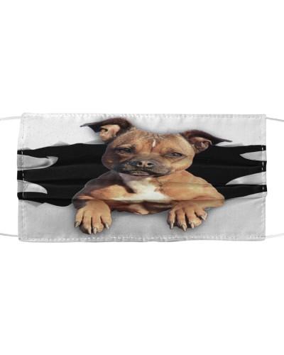 Staffordshire Bull Terrier-Face Mask-Torn03