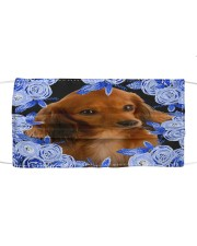 Dachshund-03-Blue Mask Cloth face mask front