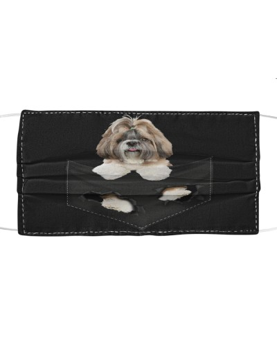 Shih Tzu-Face Mask-Pocket