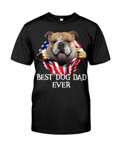 English Bulldog-Dog Flag-Dad