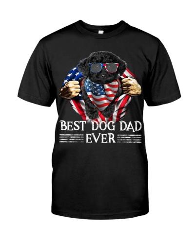 Black Toy Poodle-Dog Dad Flag