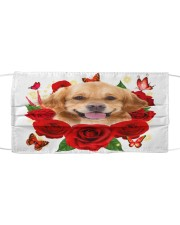 Golden Retriever-Face Mask-Rose Cloth face mask front