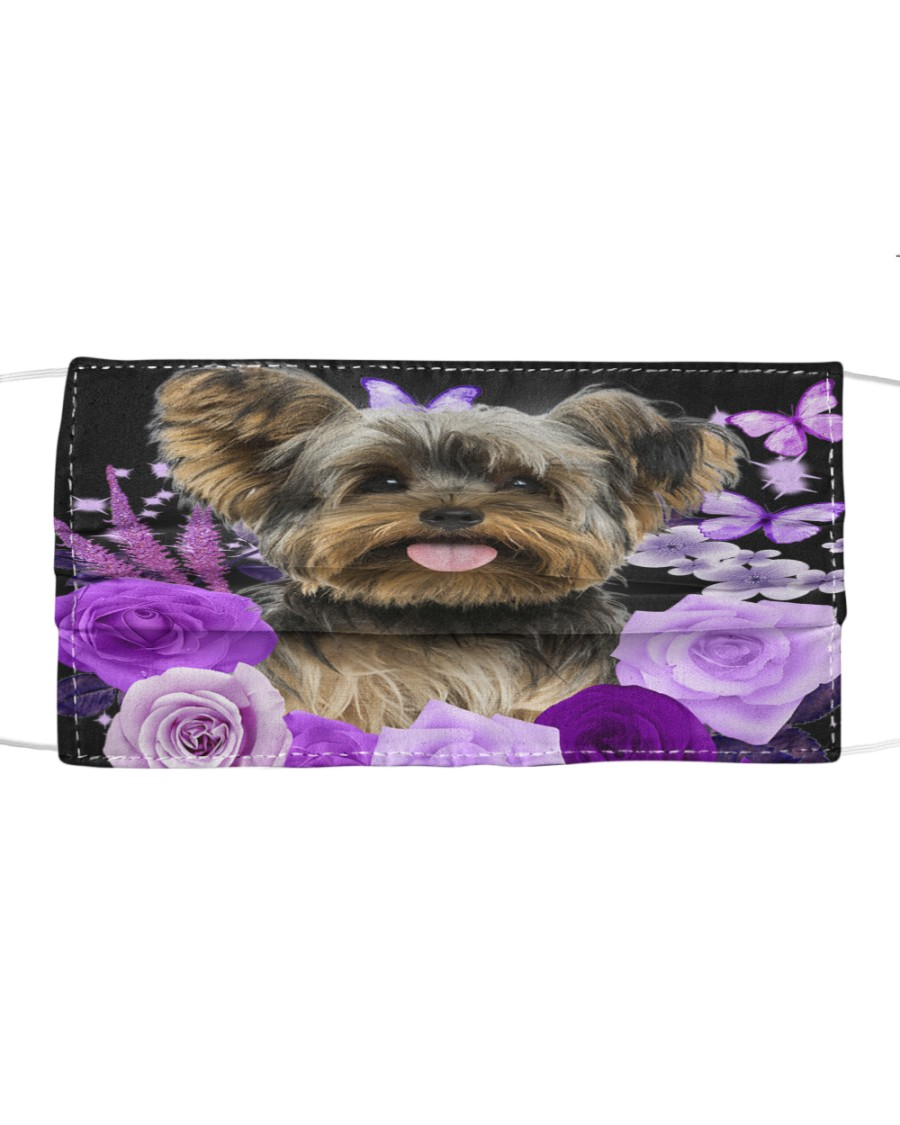 Yorkshire Terrier-Face Mask-Purple Cloth face mask