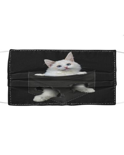 Ragdoll Cat-Face Mask-Pocket