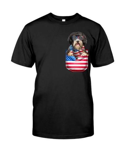 Tibetan Terrier-Flag Pocket