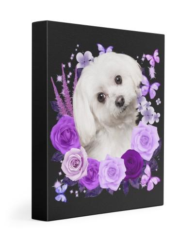 Maltese-Canvas Purple